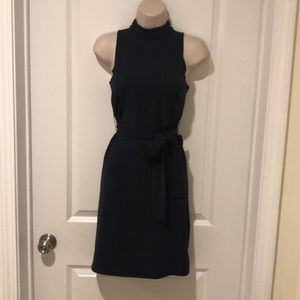 Navy blue turtle neck dress ANN TAYLOR PETITES XXS